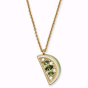 NEW Kate Spade Lime Mini Pendant Necklace